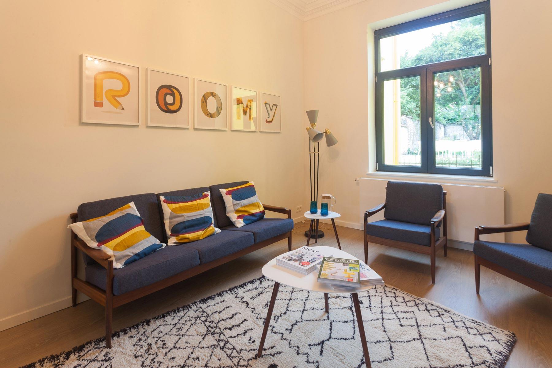 Salon maison Roomy Uccle