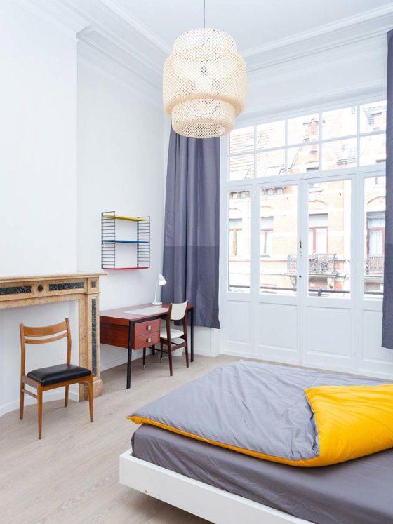 Chambre 1 personne maison Roomy Bruxelles