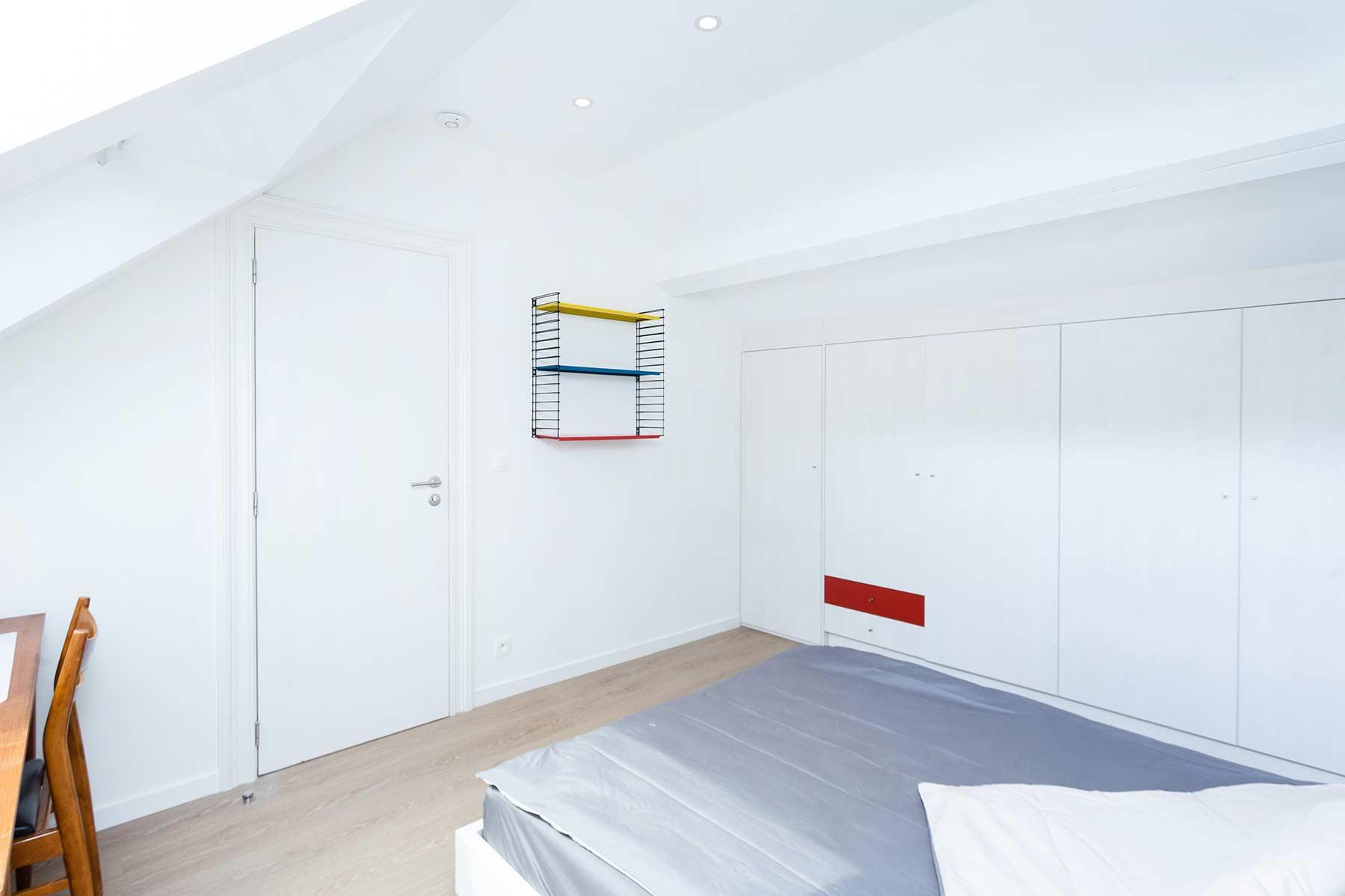 chambre meublée 1 personne 3eme étage maison Roomy Bruxelles