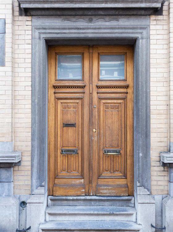 porte d'entrée maison Roomy Bruxelles