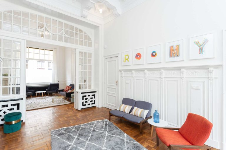 Salon living maison Roomy Bruxelles