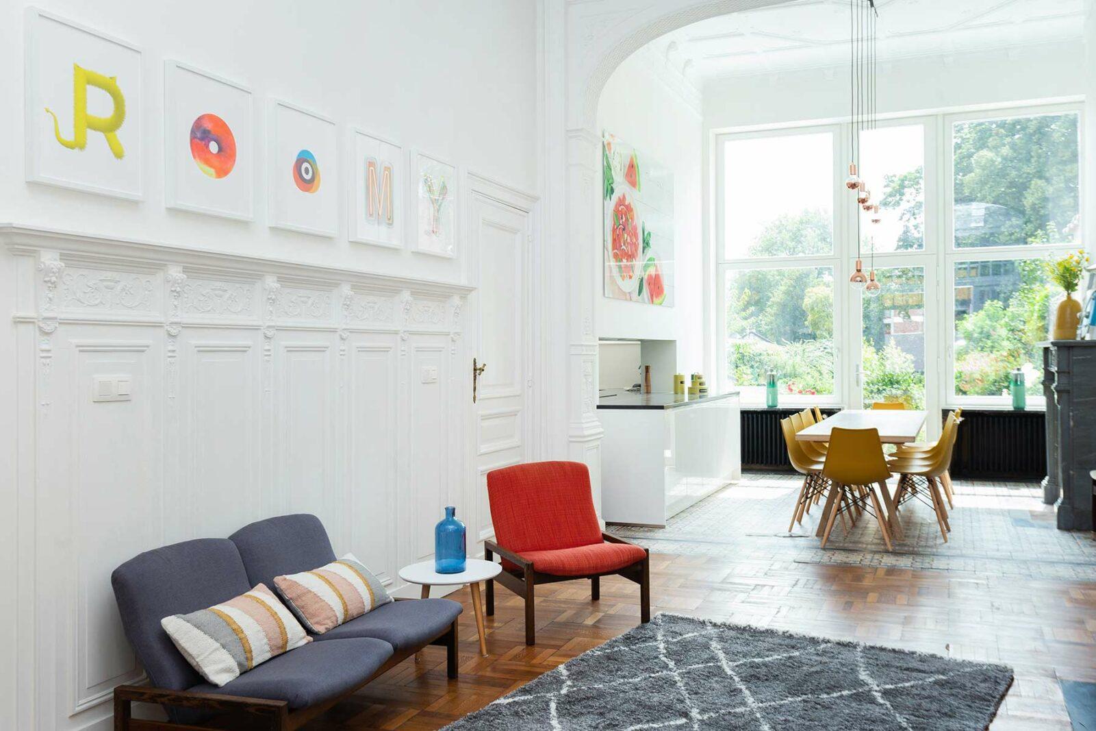 Salon salle à manger cuisine maison Roomy Bruxelles